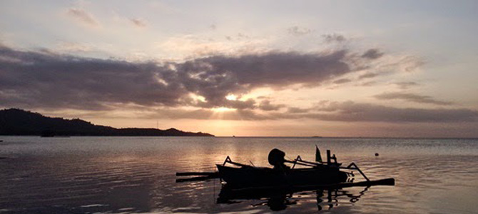 Senja di Pantai Tawun
