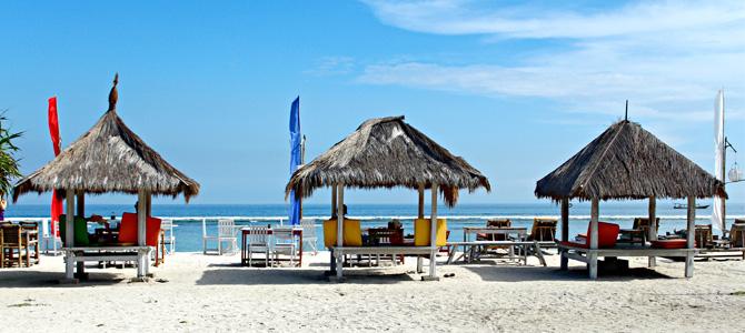 Beach hut di Gili Trawangan