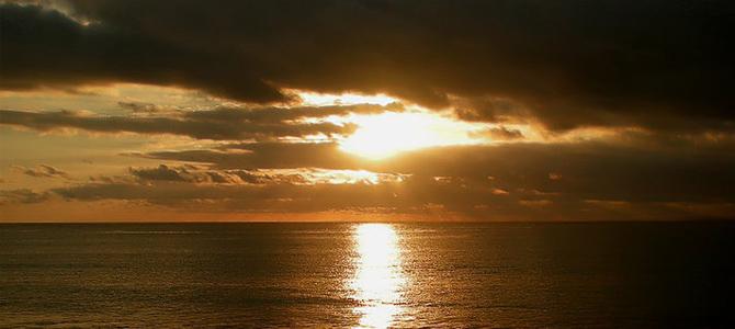 Pantai Santolo sunset