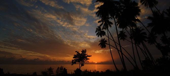 Sunrise di depan penginapan