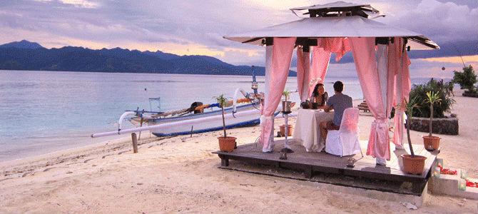 Suasana romantis Lombok cocok untuk bulan madu