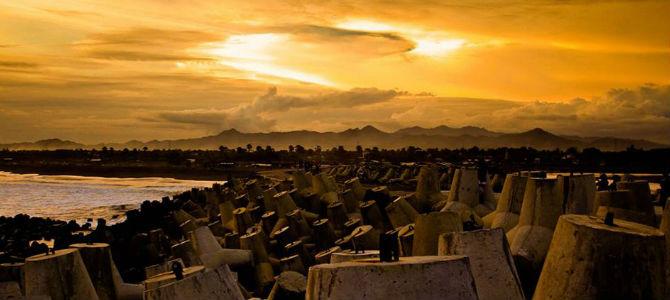 Sunset di Glagah (Foto oleh Ghozali)
