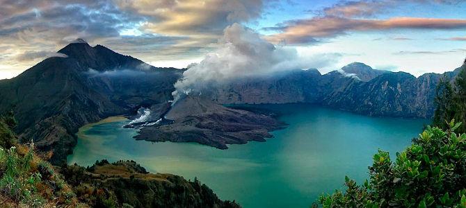 Indahnya panorama Gunung Rinjani, Lombok