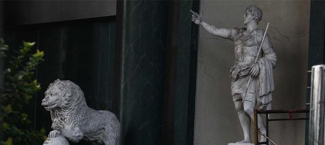 menara saidah patung romawi
