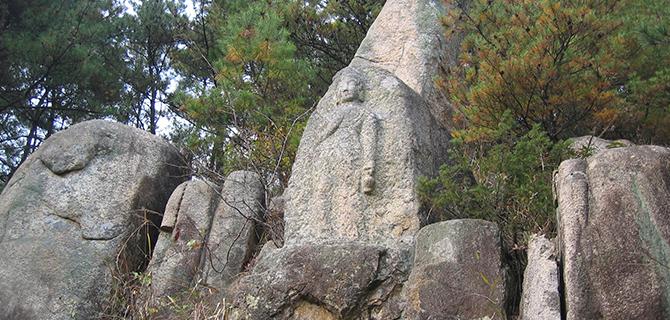 Relief batu di Namsan (IMG: Wikimedia)