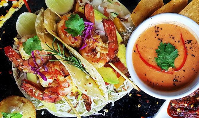 Prawn taco by tacobeachgrill