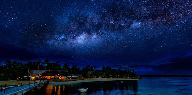 Under the stars at Wakatobi Resort. Photo by Didi Lotze